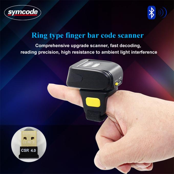 MJ-5209A Wearable Symcode Barcode Scanner / Bluetooth Ring Scanner Support HID
