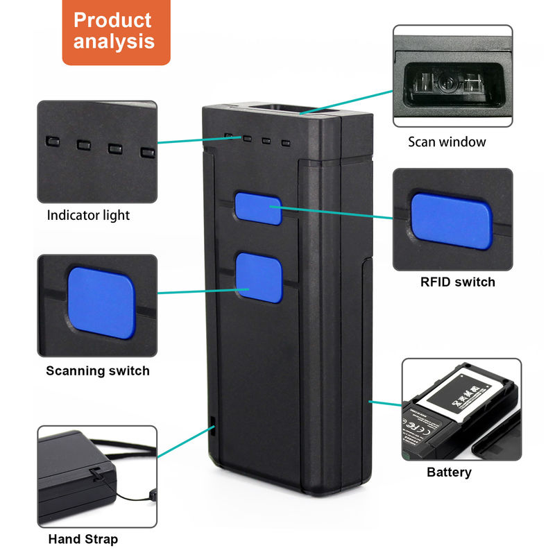 Anti - Interference 1D 2D Wireless Bluetooth Barcode Scanner For IOS Android Win