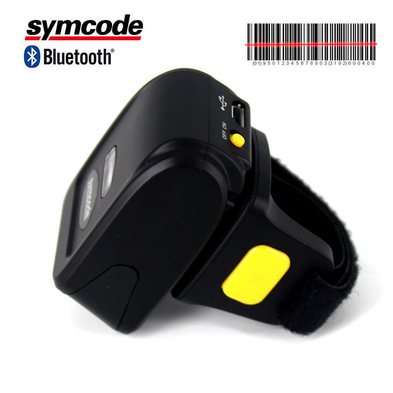 Wearable Ring Finger Bluetooth Barcode Scanner 120 Scans Per