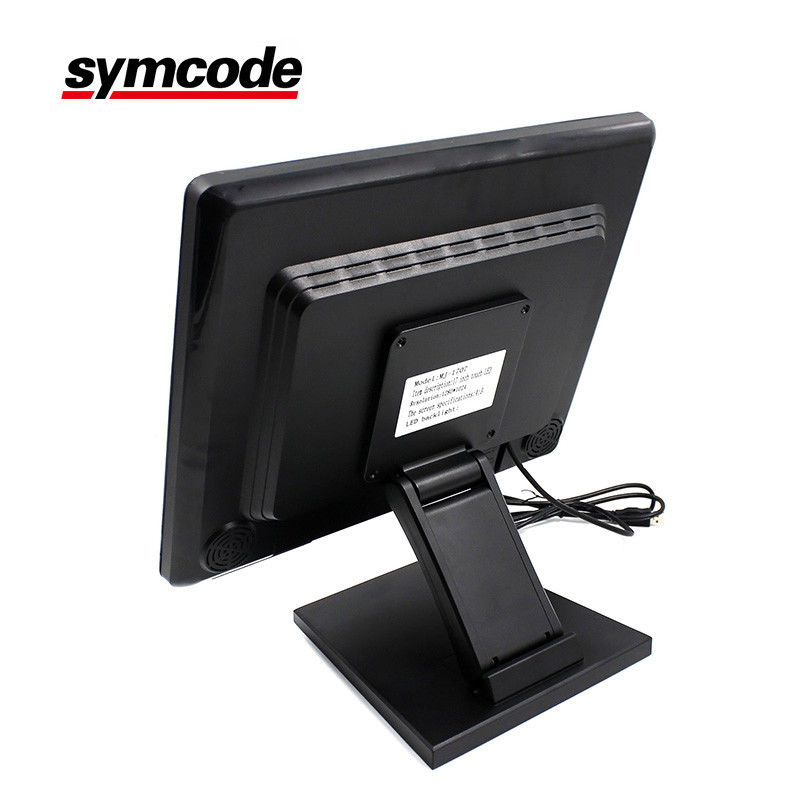 Shockproof Touch POS Monitor Anti - Interference No Radiation Support Wall Hanging