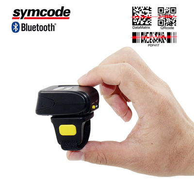 China Mini Portable Barcode Scanner / Bluetooth Ring Scanner Economic And Practical factory