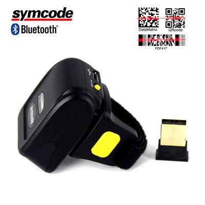 China Bluetooth Ring Scanner / 2D Barcode Scanner Improve Distribution Operational Efficiency factory